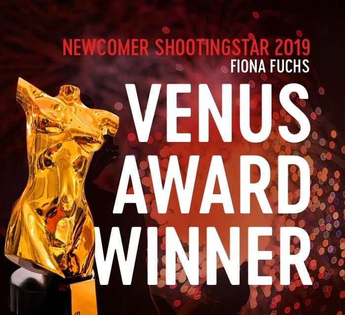 Fiona Fuchs gewinnt Venus Award 2019 als Newcomer Shootingstar