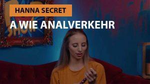Hanna Secret - A wie Analverkehr – Das Eis.de Sex ABC
