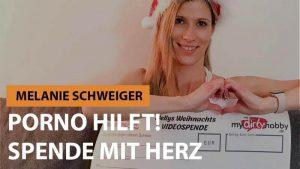 Melanie Schweiger - Porno hilft Spende mit Herz